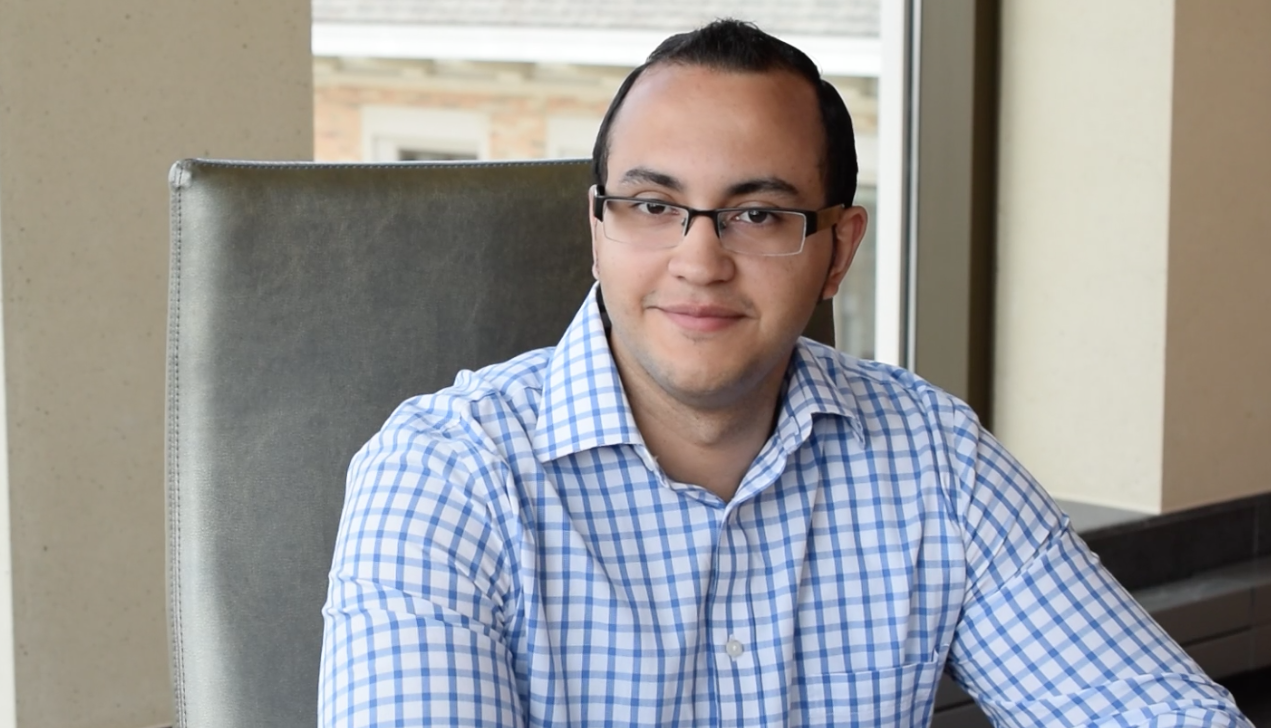 Former TESA participant  Ranier Fontane Perez,22, now works as an auditor for an accounting firm